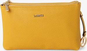 Żółta torebka L.Credi na ramię matowa