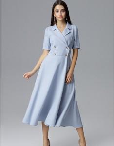 Sukienka Figl midi koszulowa