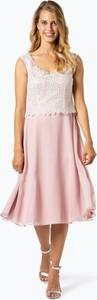 Sukienka Vera Mont Collection z okrągłym dekoltem midi z szyfonu