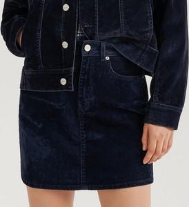 Spódnica Reserved mini z weluru