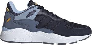 Granatowe buty sportowe Adidas Performance z płaską podeszwą sznurowane