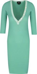 Zielona sukienka Elisabetta Franchi dopasowana