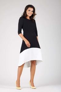 Czarna sukienka Nommo z długim rękawem