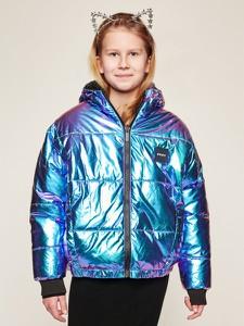 Fioletowa kurtka dziecięca DKNY
