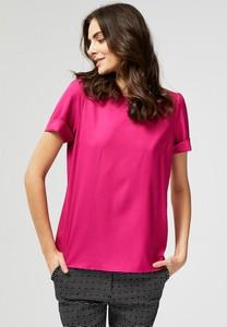 Różowa bluzka Moodo w stylu casual