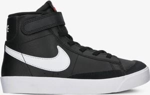 Czarne trampki dziecięce Nike ze skóry