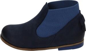 Granatowe buty dziecięce zimowe EMEL