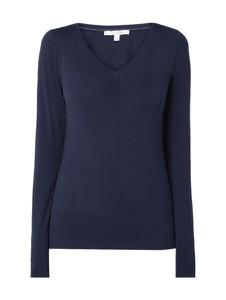 Niebieska bluzka Tom Tailor Denim z dekoltem w kształcie litery v