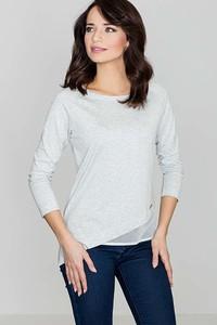 Bluzka Katrus w stylu casual z szyfonu z długim rękawem