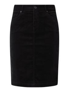 Czarna spódnica Montego ze sztruksu