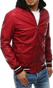 Czerwona kurtka Dstreet w stylu casual z bawełny