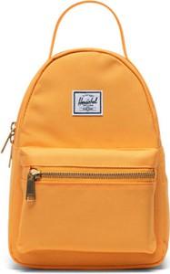 Pomarańczowy plecak Herschel Supply Co. ze skóry