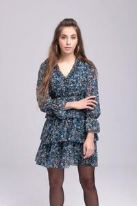 Sukienka Butik Ecru mini z długim rękawem w stylu casual