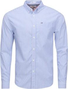 Niebieska koszula Tommy Jeans z długim rękawem z bawełny
