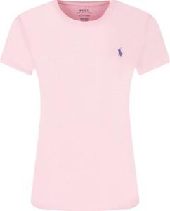 Różowy t-shirt POLO RALPH LAUREN w stylu casual