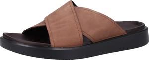 Brązowe buty letnie męskie Ecco w stylu casual