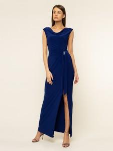 Niebieska sukienka Ralph Lauren maxi prosta