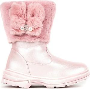 Różowe buty dziecięce zimowe Royalfashion.pl