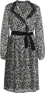 Sukienka Silvian Heach kopertowa z długim rękawem
