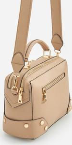 Brązowa torebka Reserved w stylu casual na ramię matowa