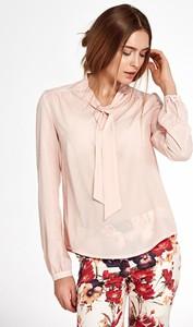Różowa bluzka Merg z długim rękawem