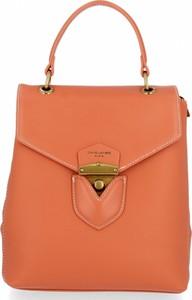 Pomarańczowy plecak David Jones ze skóry ekologicznej