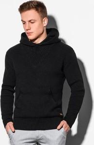 Czarny sweter Ombre w stylu casual