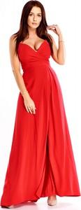 Sukienka Wox z dekoltem w kształcie litery v maxi