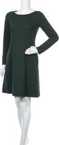 Zielona sukienka Vera Mont Robe Legere mini z długim rękawem w stylu casual