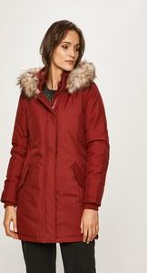 Czerwona kurtka Only długa