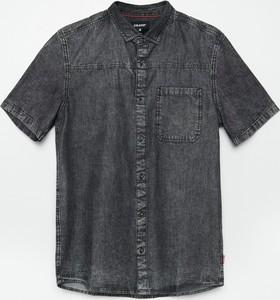 Koszula Cropp z krótkim rękawem z klasycznym kołnierzykiem