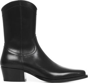 Czarne buty zimowe Dsquared2