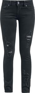 Czarne jeansy Black Premium By Emp w street stylu z bawełny