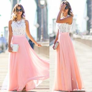 Różowa sukienka Estera maxi