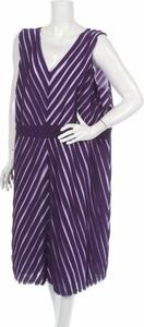 Fioletowa sukienka Studio 8 z dekoltem w kształcie litery v