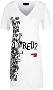 Sukienka Dsquared2 z krótkim rękawem