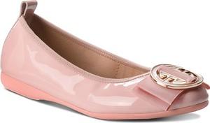 Różowe baleriny La Ballerina w stylu casual ze skóry