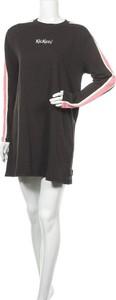 Czarna sukienka Kickers z długim rękawem w stylu casual mini