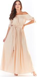 Sukienka Awama z krótkim rękawem maxi hiszpanka