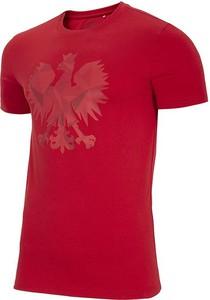 T-shirt 4F w młodzieżowym stylu z nadrukiem z bawełny