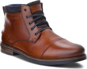 Brązowe buty zimowe Lasocki For Men sznurowane z zamszu
