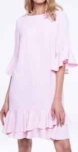 Sukienka L'AF mini z długim rękawem w stylu casual