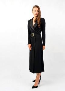 Sukienka Eureka z długim rękawem z dekoltem w kształcie litery v