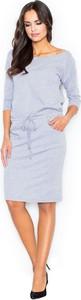 Sukienka Figl w stylu casual midi z długim rękawem