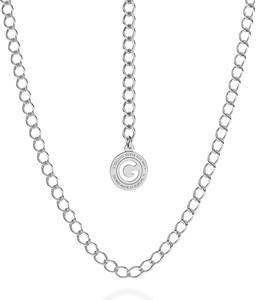 GIORRE SREBRNY NASZYJNIK ŁAŃCUSZEK CHOKER ROMBO 925 : Długość (cm) - 55, Kolor pokrycia srebra - Pokrycie Jasnym Rodem