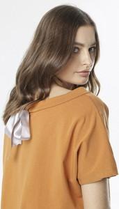 Pomarańczowa bluzka born2be z krótkim rękawem