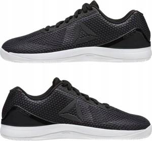 Czarne buty sportowe Reebok z płaską podeszwą sznurowane