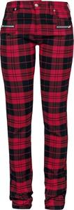 Czerwone spodnie Emp z bawełny w młodzieżowym stylu