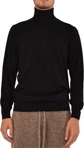 Czarny sweter Laneus z wełny