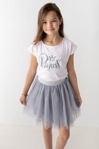 Bluzka dziecięca Myprincess / Lily Grey z bawełny z krótkim rękawem